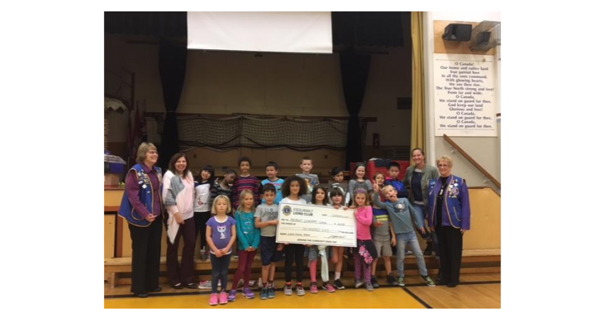 Presentation from the Lions Club of Esquimalt – Thank you for the wonderful support!